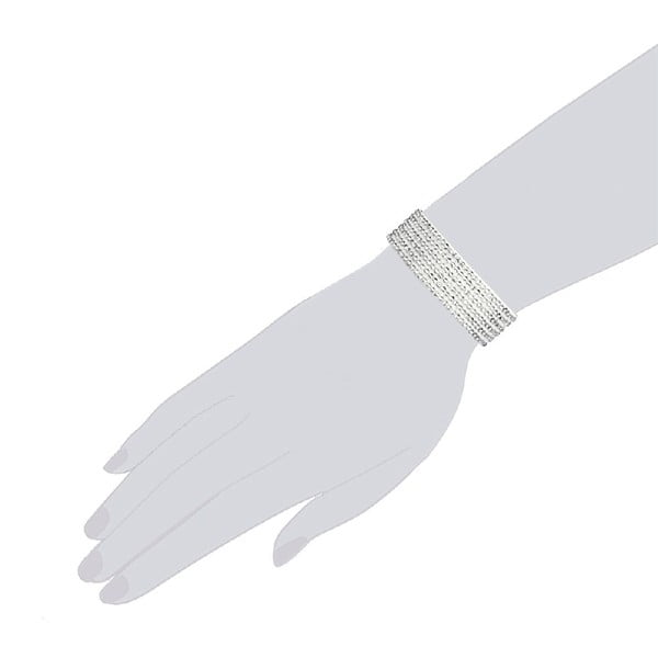 Náramok Simply White, 19 cm
