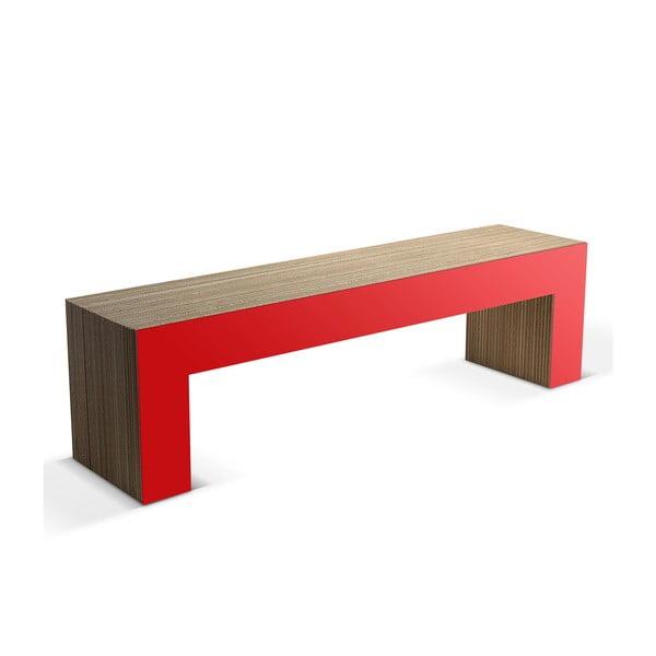 Kartónová lavica Panca Red, 160 cm