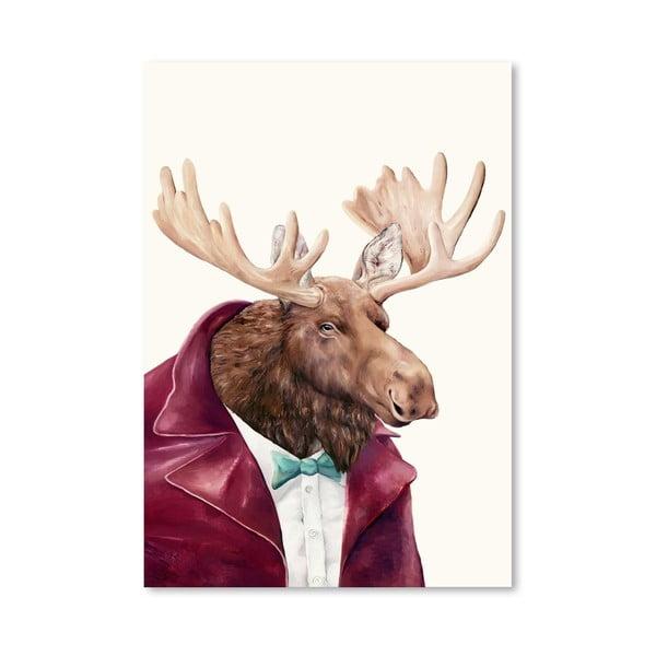 Plagát Moose, 30x42 cm