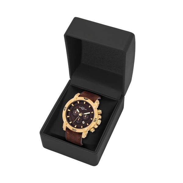 Pánske hodinky Draven Brown Gold