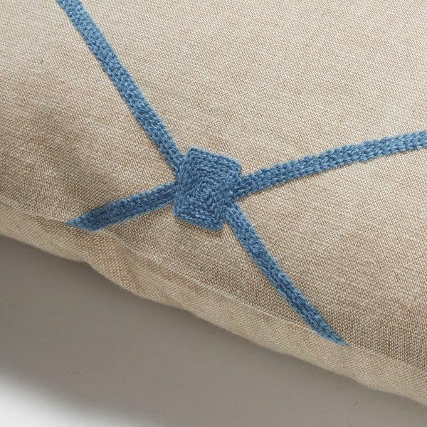 Modrý vankúš La Forma Melrose, 30x50 cm