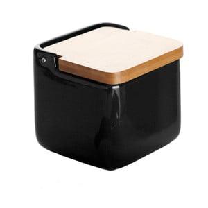 Kameninová dóza na soľ Versa Black Salt Box