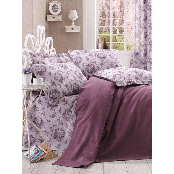 Prikrývka s plachtou Purple Floral, 160x235 cm