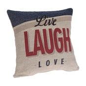 Obliečka na vankúš InArt Laugh, 45×45cm