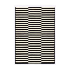 Čierno-biely koberec Hanse Home Gloria Panel, 80 x 150 cm