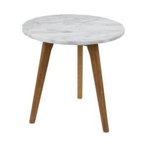 Odkladací stolík Zuiver White Stone, ⌀40 cm