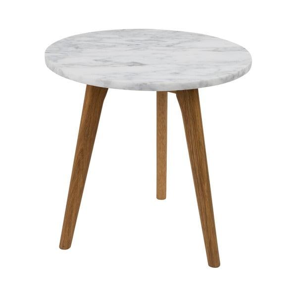 Odkladací stolík s doskou v dekore kameňa Zuiver , Ø40 cm