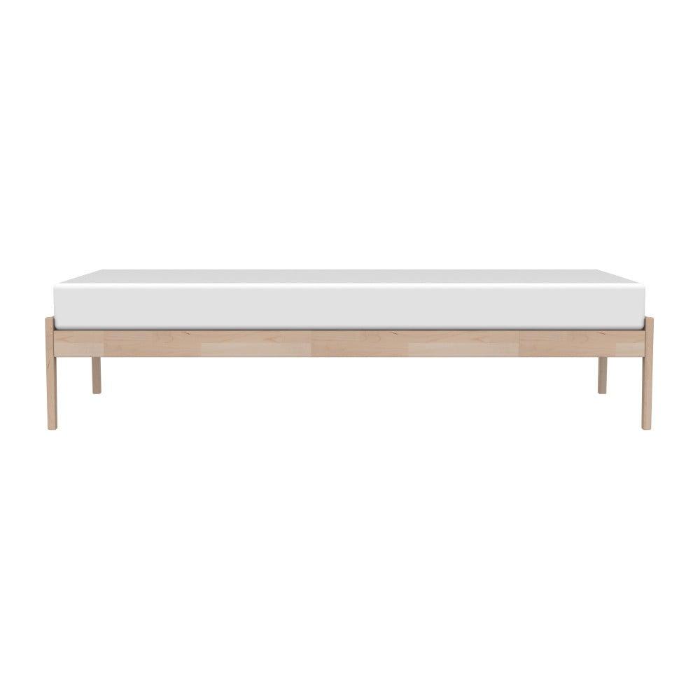Hnedý rám postele z masívneho brezového dreva Kiteen Avanti, 85 × 206 cm
