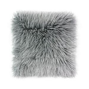 Sivá obliečka na vankúš WeLoveBeds Fluffy, 50 × 50 cm