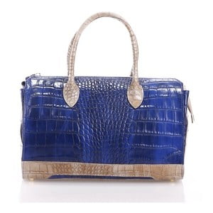 Kožená kabelka Livie, modrá