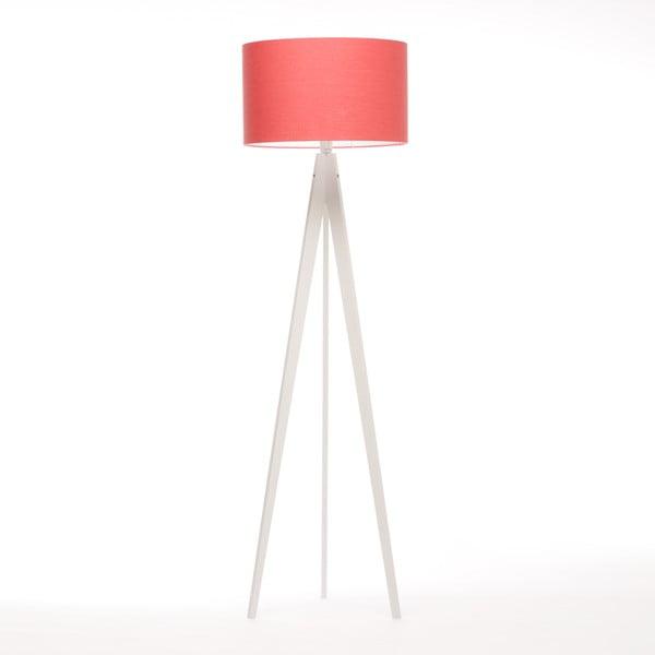 Stojacia lampa Artist Coral Red Linnen/White Birch, 125x42 cm