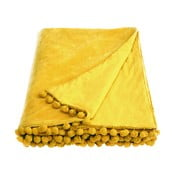 Žltý pléd Ragged Rose Belinda Velvet