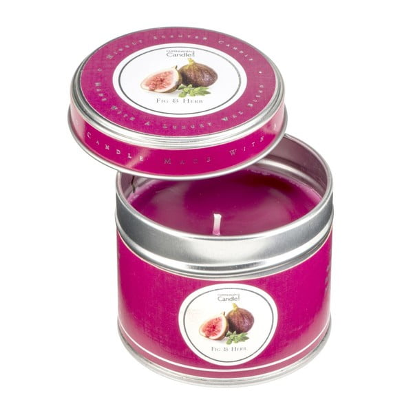 Aroma sviečka v plechovke Fig & Herb, doba horenia 32 hodín
