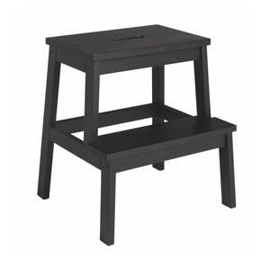 Čierna dubová stolička/schodíky Rowico Nanna