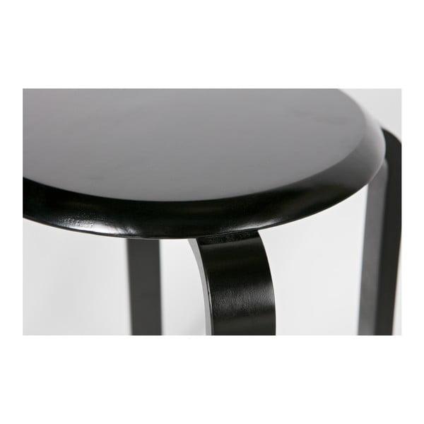 Čierna stolička z brezového dreva De Eekhoorn Diede