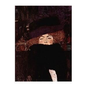 Reprodukcia obrazu Gustav Klimt - Lady with Hat And Feather Boa, 70x50cm