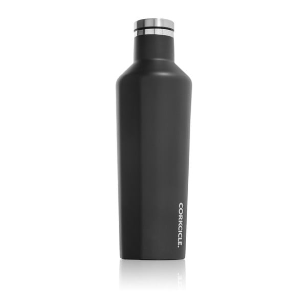 Čierna cestovná fľaša Root7 Canteen, 473ml