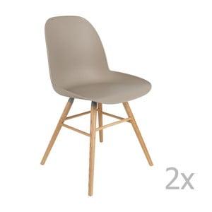 Sada 2 sivých stoličiek Zuiver Albert Kuip