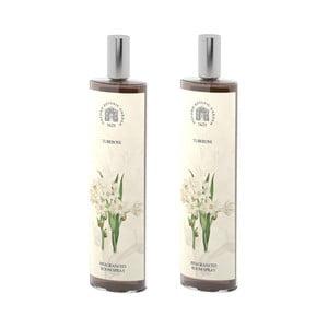 Sada 2 interiérových vonných sprejov s vôňou tuberózy Bahoma London Fragranced, 100 ml