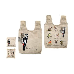 Skladacia taška s potlačou vtáčikov Ego Dekor Fly