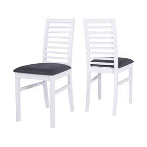 Biela jedálenská stolička s konštrukciou z gumovníkového dreva Canett Gabriel