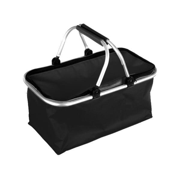 Prenosný nákupný košík Vetro, čierny