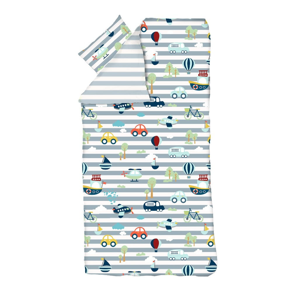 Detské obliečky Flexa Transport, 140 x 200 cm + 50 x 70 cm