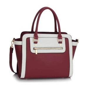 Bielo-vínová kabelka L & S Bags Trianon