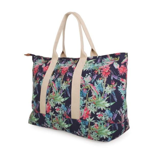 Modrá plátená taška s kvetmi Lois Playera