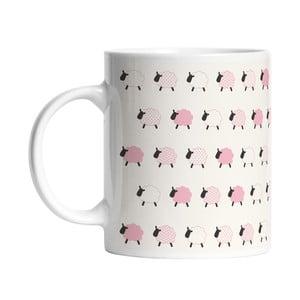 Keramický hrnček Pink Sheeps, 330 ml