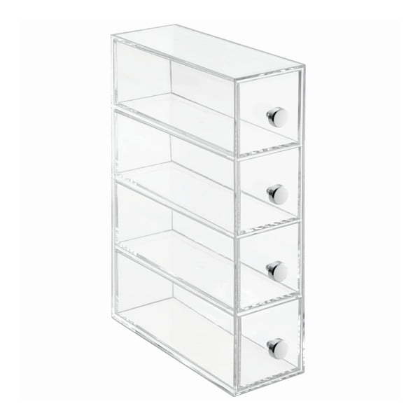 Transparentný úložný box so 4 zásuvkami InterDesign Werso