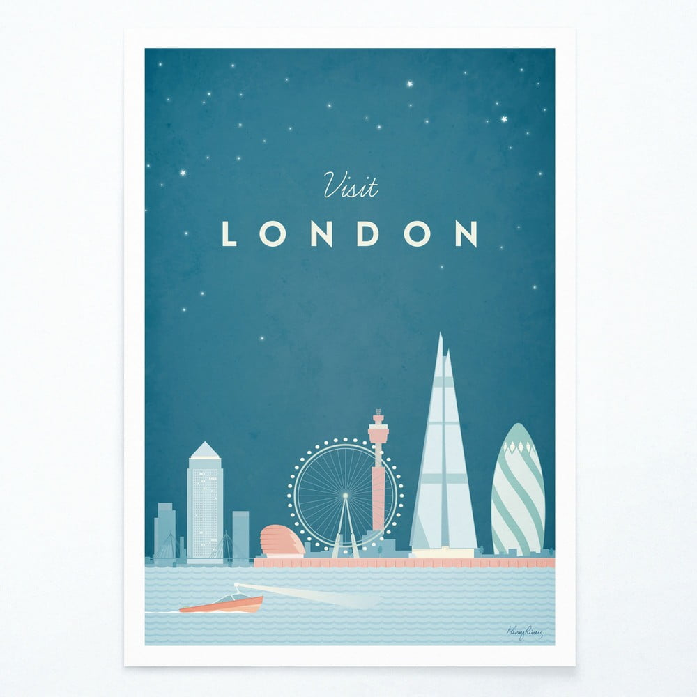 Plagát Travelposter London A3