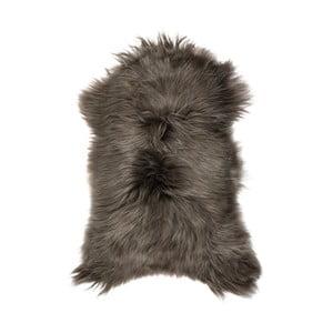 Tmavosivá ovčia kožušina s dlhým vlasom Ganna, 90 x 50 cm