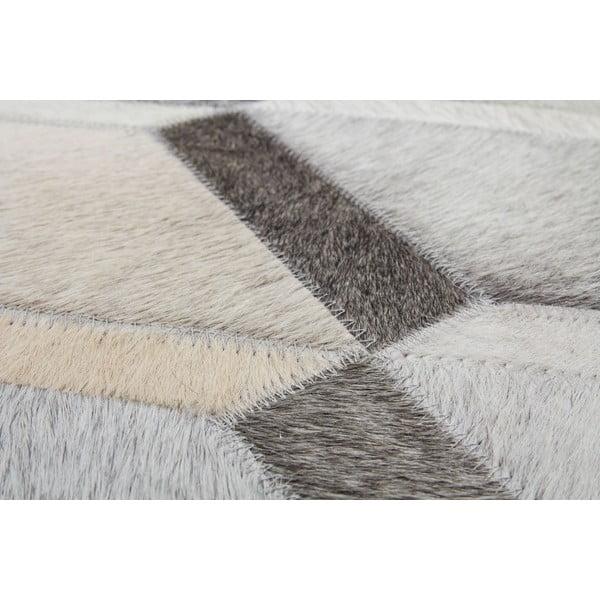 Kožený koberec Revolution Grey, 90x144 cm