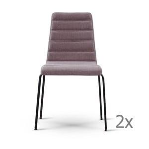 Sada 2 sivohnedých stoličiek s čiernymi nohami Garageeight