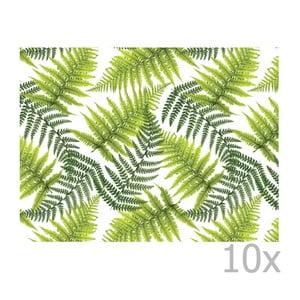 Sada 10 papierových jednorazových prestieraní Esschert Design Picnic
