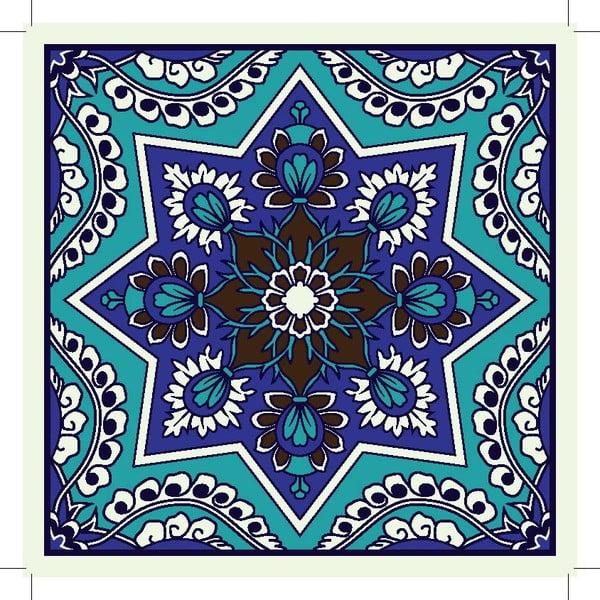 Sada 2 prestieraní Blue India Decor, 20x20 cm