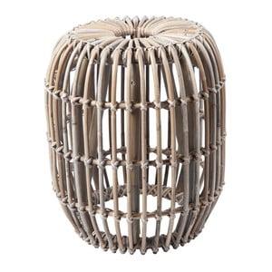 Svetlohnedý ratanový odkladací stolík RGE Venus, ⌀ 77 cm
