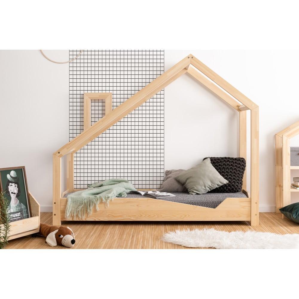 Domčeková posteľ z borovicového dreva Adeko Luna Adra, 70 x 180 cm