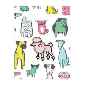 Smaltovaný odznak Ohh Deer Poodle Dog