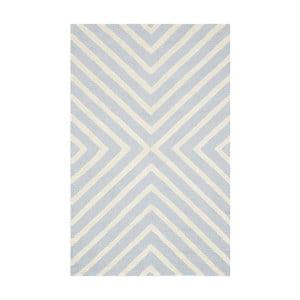 Vlnený koberec Prita Light Blue, 91x152 cm