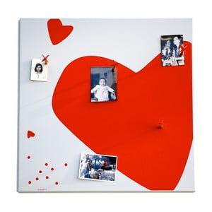 Magnetická nástenka dESIGNoBJECT.it Red Heart, 50 x 50 cm