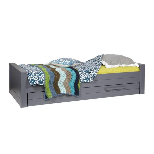 Oceľovosivá posteľ DeEekhoorn Dennis 90x200cm