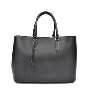Čierna kožená kabelka Anna Luchini Miriam