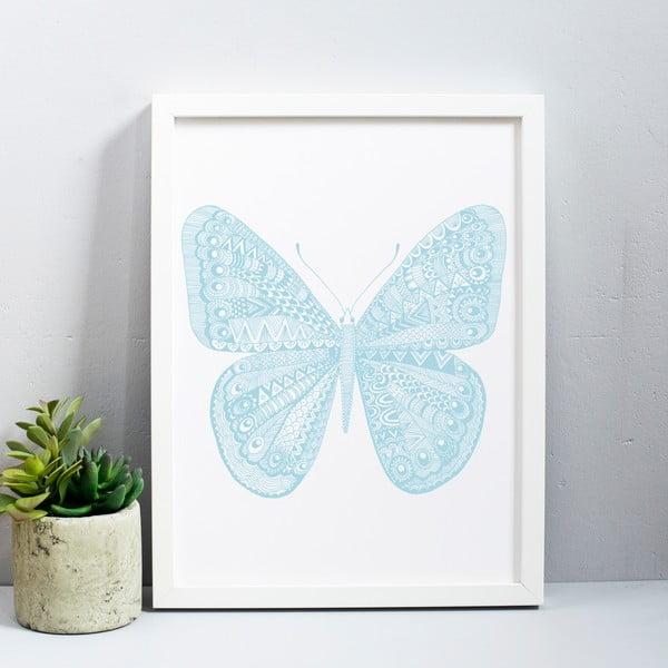 Plagát Karin Åkesson Design Butterfly Blue, 30x40 cm