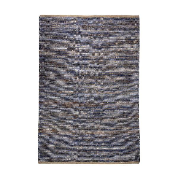Konopný koberec Coastal Natural/Blue, 160x230 cm