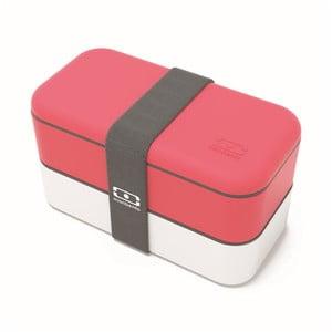 Červeno-biely obedový box Monbento Original