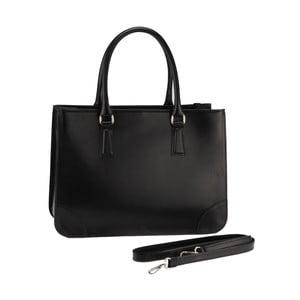 Kožená kabelka Lime, čierna