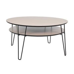 Konferenčný stolík s čiernymi nohami RGE Leon, ⌀ 100 cm