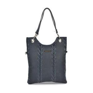 Modrá kožená kabelka Mangotti Elsa
